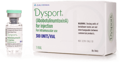 Dysport® (abobotulinumtoxinA) for temporary improvement in the look of moderate to severe frown lines between the eyebrows (glabellar lines)